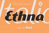 Ethna Italic example image 1