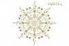 Christmas mandala, single line sketch file / foil quill file example image 7