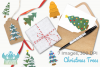 Christmas Trees Clipart, Instant Download Vector Art example image 4