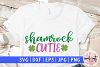 Shamrock cutie - St. Patrick's Day SVG EPS DXF PNG example image 1