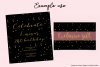 Sparkly Gold Confetti (Sparse) - transparent backgrounds example image 2