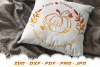 Thankful Fall Pumpkin Sign SVG DXF Cut Files example image 2