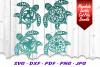 BIG Mandala Sea Turtle SVG DXF Cut Files Bundle example image 6