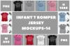 Infant T Romper Jersey Mockups Bundle - 14 example image 1