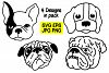 Dogs Head 4 Design - jpg png eps svg example image 1