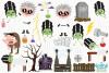 Bride of Frankenstein Clipart, Instant Download Vector Art example image 2