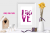 Love bow graphic / jpeg, png file example image 1