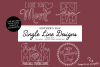 Mothers Day Single Line Designs | Foil Quill | Sketch Design example image 1
