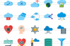 100 Data Flat Icons example image 2