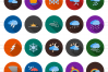 30 Weather Flat Long Shadow Icons example image 2