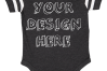 Infant Football Bodysuit Mockups - 12 |PNG|Front/Back - V2 example image 10