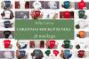 Winter Tshirt Mockup Bundle Bella Canvas 3001 3005 3501 3719 example image 1