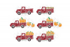 Pumpkin Truck SVG Thanksgiving in SVG, DXF, PNG, EPS, JPEG example image 2