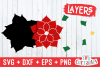 Merry Christmas Poinsettia | Christmas SVG Cut File example image 3