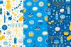 12 Hanukkah Seamless Patterns example image 4
