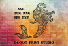 Mermaid SVG, Mandala svg, Zentangle SVG, Cricut cut file example image 1