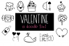 Valentine - Valentine's Day Doodle Font  example image 1