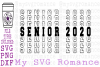 Senior 2020 - Word Mirror Graduation SVG PNG DXF College HS example image 1