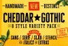 Cheddar Gothic Font Family example image 1