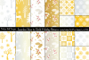 Seamless Silver & Gold Holiday Patterns example image 1