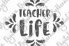 Teacher Life Sign Appreciation Print & Cut PNG SVG DXF PDF example image 4