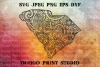 South Carolina SVG, Map Zentangle SVG, Mandala svg example image 1