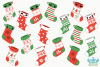 Christmas Stockings Clipart, Instant Download Vector Art example image 2