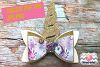 Unicorn Hair Bow Template. Svg. Dxf. Pdf. Eps. Jpg. Png example image 1