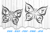Tribal Butterfly Scroll Hearts SVG DXF Cut Files Bundle example image 4