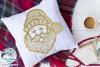 Santa Zentangle SVG | Christmas Santa Mandala SVG File example image 2