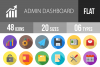 48 Admin Dashboard Flat Long Shadow Icons example image 1