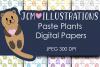 Paste Plants - Digital Papers - Digital Scrapbook Papers example image 1