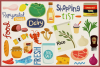 80 Groceries Vector Clipart & Seamless Patterns example image 3