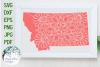 Montana State Mandala SVG Cut File example image 1