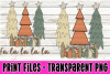 Rustic Trees and Presents - Print File example image 1