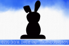 Easter Bunny Rabbit Silhouette Template example image 1