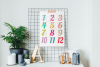 Wall Calendar 2020 Letter & Poster Size Printable PDF PNG example image 1