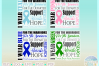 Awareness Ribbon Bundle SVG Dxf Eps Png files example image 4