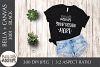Bella Canvas 3001 Woman's T Shirt Mockup, Black, Flat lay example image 1