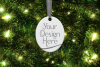 Oval Christmas Ornament Mockup, Sublimation Mock-Up, PSD example image 4