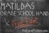 Matildas Grade School Hand_Print example image 2