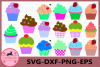 Cupcake SVG, Cupcake clipart, Sweet Cupcake SVG digital example image 1