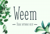 Weem Hand Lettered Font example image 1