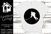 Hockey Player Cut Out Design example image 1
