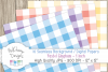 16 seamless Digital Papers - Pastel Gingham 1 inch - HC003 example image 2