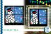 SVG Snowman Glass Block Vector, Cut File, Clip Art FWS458 example image 1