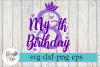 My 8th Birthday Party Diva SVG Cutting Files example image 1