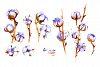Watercolor cotton - floral set. example image 2