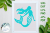 Mermaid, Summer, Beach, Nautical SVG Cut File example image 1