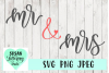Mr & Mrs Hand lettered SVG, JPEG, PNG example image 1